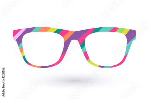 Colorful glasses frame icon simbol. - 82121586