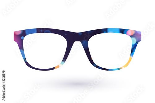 Fototapeta Colorful glasses frame icon simbol.
