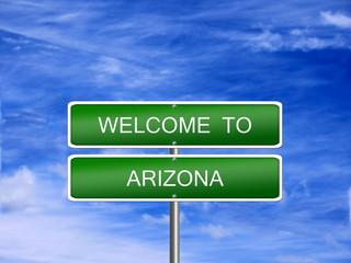 Arizona State Welcome Sign