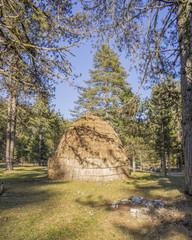 huts in Ioannina Gyftokampos Greece - sarakatsanoi 's home