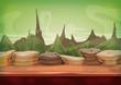 Cartoon Fantasy Sci-fi Martian Background - 82122964