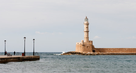 Lighthouse of Chania in Crete