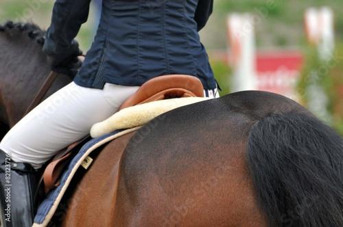 Auf dem Pferd reiten