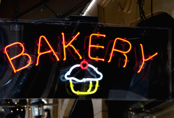 Neon Bakery Sign