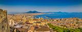 Naples sunset panorama, Campania, Italy