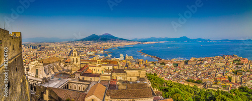 Naples sunset panorama, Campania, Italy - 82124768