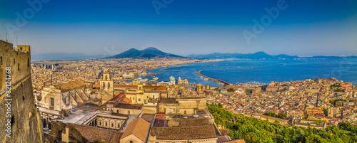 Foto op Canvas Mediterraans Europa Naples sunset panorama, Campania, Italy