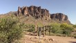 Entrance to the trails in the Superstition Mountains, Arizona
