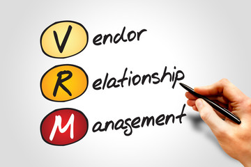 VRM acronym Vendor relationship management, business concept