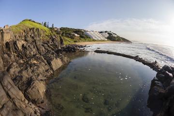 Rocky Coastline Tidal Pool Beach
