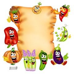 pergamena verdure in allegria