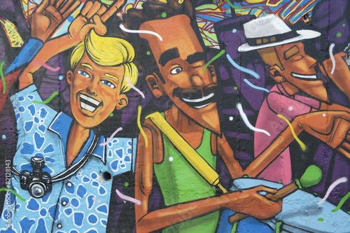 Plakát, Obraz Lapa Rio de Janeiro Brazílie Graffiti