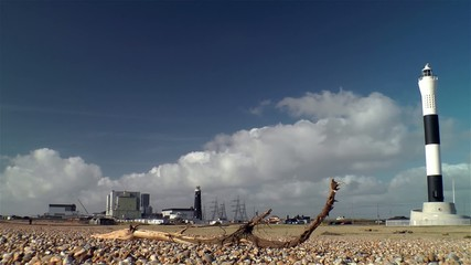 Dungeness nuclear power plant - Timelapse