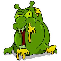 Trash Monster - Colored Cartoon