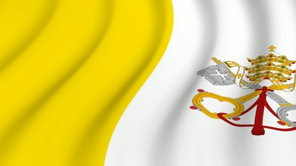 Waving national flag of Vatican