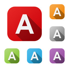 ALPHABET ICONS (letter A graphic design lettering)