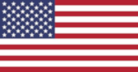 United States flag blurred