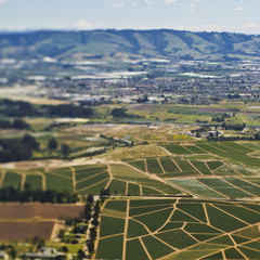 Aerial View of Agricultural Farmland