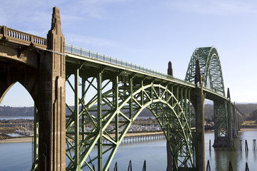 Bridge Crossing the Rogue River, Highway 101, Oregon