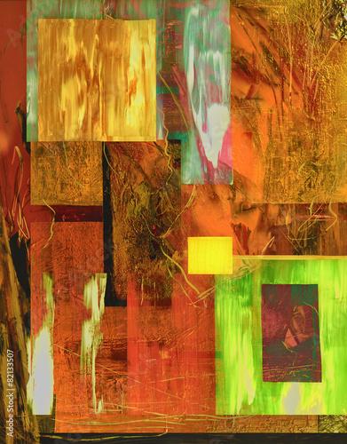 Leinwandbild Motiv Abstract On Glass
