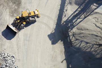 Bulldozer at quarry