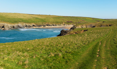 South West Coast Path Porth Joke North Cornwall