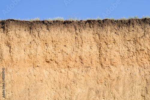 Layered cut of soil - 82134543