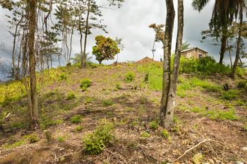Landscape near one Maya village in Toledo District, Belize