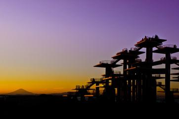 黄昏富士展望