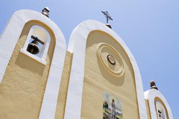 Exterior Facade of a Mexican Church