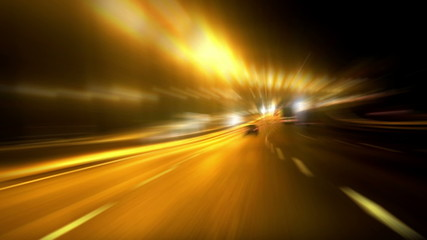 Cars on the highway in blurred motion. time lapse