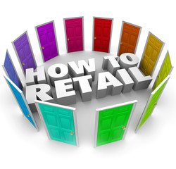 How to Retail 3d Words Doors Store Sell Products Merchandise