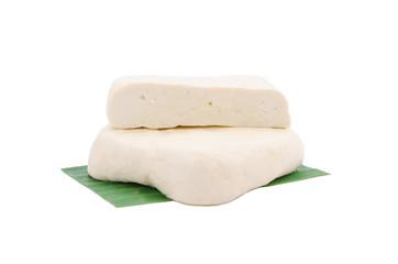 Fresh piece of tofu