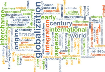 Globalization wordcloud concept illustration