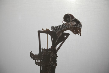 Traditional Indonesian shadow puppet theatre wayang kulit