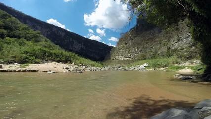 River running in La Venta Canyon in Chiapas, Mexico