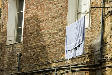 Laundry Hanging from Line, Tuscany, Italy