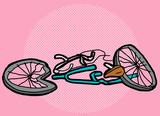 Crushed Bike Over Pink - 82145159
