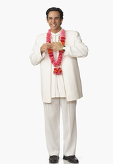 Middle Eastern man in wedding clothing