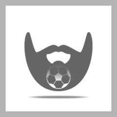 Beard Icon. Football
