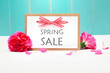 Spring Sale card with pink carnations - 82148575