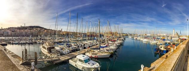 Panorama du port de Sète, Languedoc