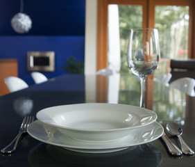 Elegant Place Setting in a Dining Room
