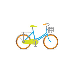 Bicycle home vector retro