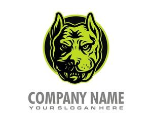 dog pet character logo image vector
