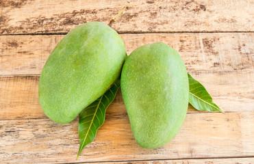 mango on wooden background
