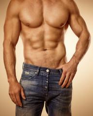 schöner starker Männerkörper