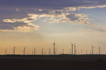 Wind Farm at Dusk