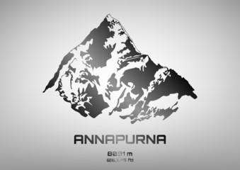Outline vector illustration of steel Mt. Annapurna