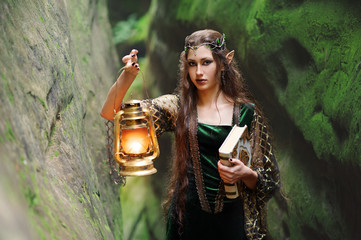 female elves in the mountains is fabulous lamp so the book